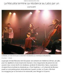 Article Ouest France sur la Matusita